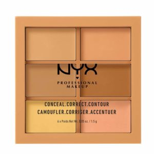 how to conceal undereye dark circles with NYX PROFESSIONAL MAKEUP Conceal Correct Contour Palette